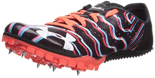 Under Armour Unisex-Child Kick Sprint 2 Running Shoe, Black (001)/After Burn, 6.5 M US Big Kid