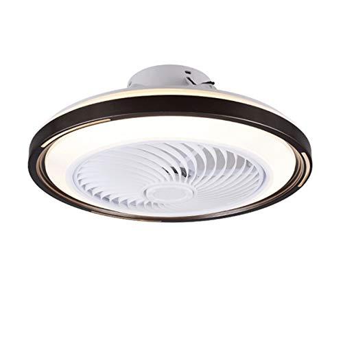 TATANE Invisible Techo Ventilador iluminación 72W Regulable LED Redondo Lámpara de Techo con Mando a Distancia Moderno Silenciar Ventilador Ligero para Sala Habitación Comedor Oficina Ø50CM,A