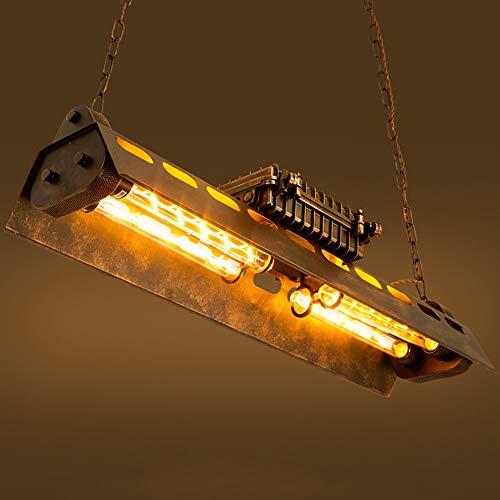 Kroonluchter Retro Industriële Wind LED Vierkante Kroonluchter Plafond Lamp Iron Art Craft Oude Decoratieve Lamp Voor 15-30 Vierkante Meters Hanglamp