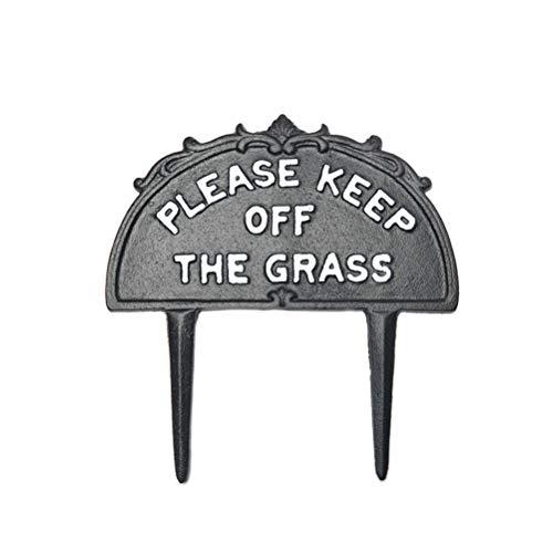Akemaio Hierba Jardín Inscripción Yarda del Metal con la Muestra Estaca no pisar el césped Cartel Divertido de Accesorios para el jardín Símbolo del Signo