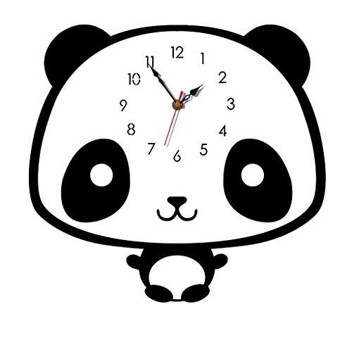 HOT!Liusdh Wanduhren Nordic Style Panda Wanduhr Silent Wooden Clock für Zuhause Wohnzimmer