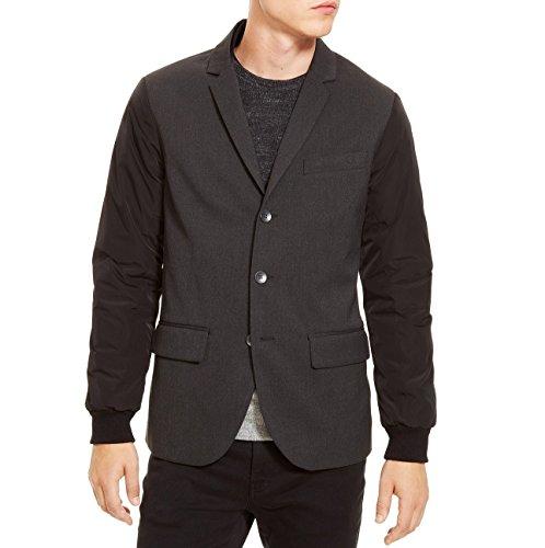 Kenneth Cole Reaction Mens Notch Collar Long Sleeves Basic Jacket Black L