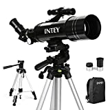 INTEY Télescope Astronomique F400mm, Grossissement (67X, 16X) Oculaire Kellner (K6mm, K25mm),...