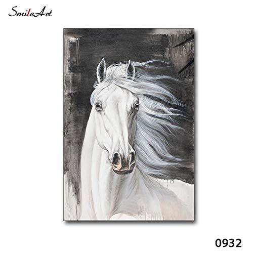 Witte Draak Paard Moderne Hd Gedrukt Landschap Poster Schilderijen Voor Woonkamer Muur Home Decor, 0932,13X18cm Geen Frame