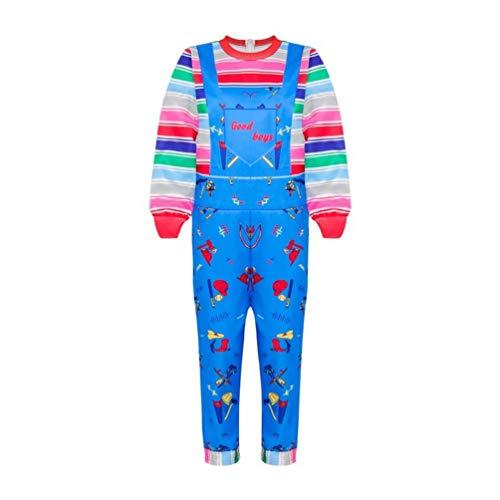 Disfraz de Chucky Cosplay para niños y niñas, con diseño de arco iris (mono, de 120 a 4 a 5 años)
