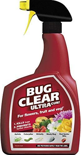 1 litre Bug Clear Ultra Spray Bottle, For Flowers, Fruit & Veg, Kills Bugs & Prevents further...