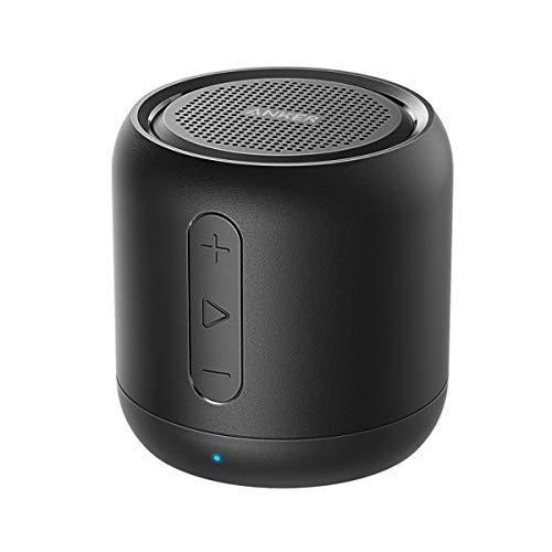 Anker SoundCore Mini Super Mobiler Bluetooth Lautsprecher Speaker mit 15 Stunden Spielzeit, 20 Meter Bluetooth Reichweite und Starkem Bass (Schwarz)(Generalüberholt)