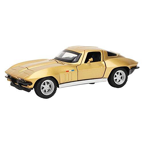 Voluxe Modelo de coche 1:32, modelo de coche para la tienda de joyas para los amantes de la joyería para el hogar para la tienda de relojes (oro)