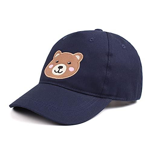 XIAOHAWANG Baseball cap Bambini Berretto da Baseball Estivo Cappellino Visiera Regolabile per Ragazze dei Ragazzi Cappello di Protezione UV per 2-10 Anni (Marino, 2-6 anni)