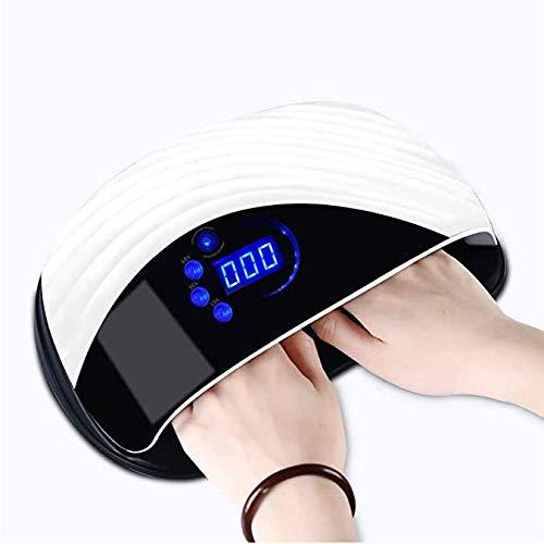 WYSDD Lámpara De Uñas 120W UV LED Secador De Uñas Lámpara De Curado Sin Dolor con Sensor Automático Pantalla LED para Esmalte De Uñas Luz De Uñas con