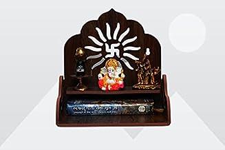 Wooden Singhasan Temple for God, Laddu Gopal Sinhasan for Pooja Mandir, Singhasan for Diwali, Durga Pooja, Navratri, Ganes...