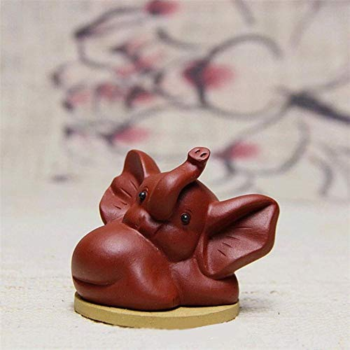 Boner paarse klei thee huisdier Chinese theeset accessoire Delicate Home Decor mooie olifant theepot, rood
