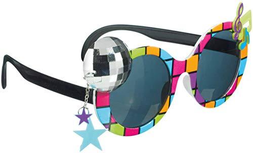 Amscan 250486-55 - Brille Klassik 70er, Spaßbrille, Mottoparty, Karneval, Accessoire, Disco, Scherzbrille