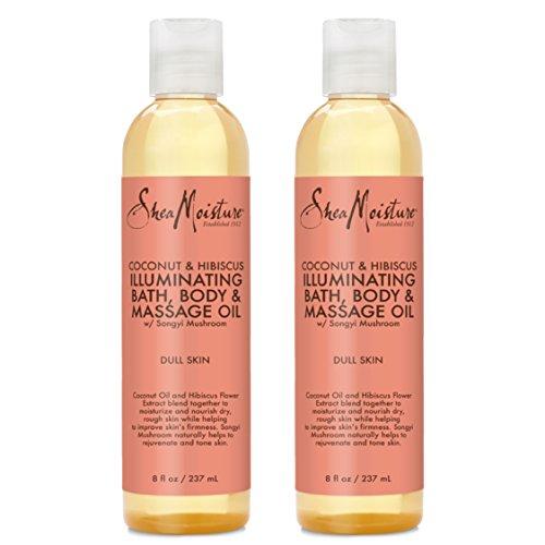 SheaMoisture Coconut amp Hibiscus Bath Body amp Massage Oil 8 Ounces  2pc