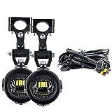 KKOYYRZ Luces auxiliares de la lámpara de Niebla General Motocicleta 40W 6000K Conducción de lámparas de Niebla/Ajuste para BMW R1200GS F800GS F700GS F650 K1600 (Color : Light Wire Relay)