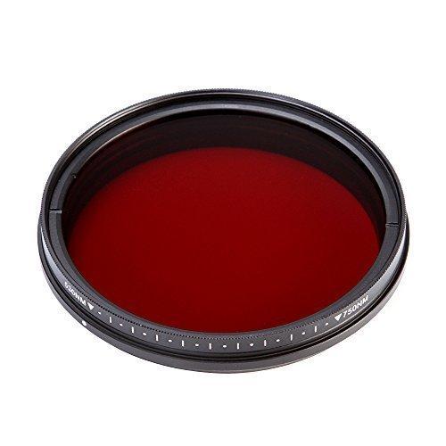 FOTGA 77mm Sechs-im-EIN Einstellbare Infrarot Infrared Pass X-Ray-Objektiv-Filter IR Filter 530nm bis 750nm