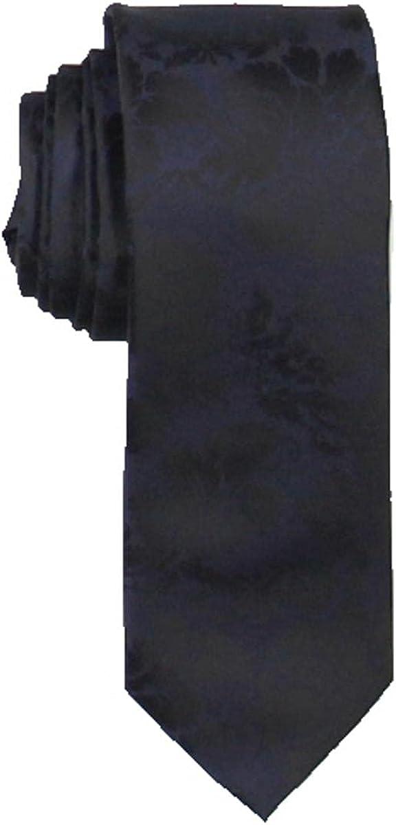 INC Mens Damask Floral Professional Neck Tie Navy O/S
