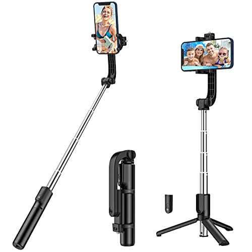Yoozon Palo Selfie Trípode 3 en 1. Mini Selfie Stick Bolsillo para Selfies con Mando a distancia, palo extensible compatible con teléfonos iPhone y Andriod como iPhone, Samsung, Huawei, LG, Xiaomi etc