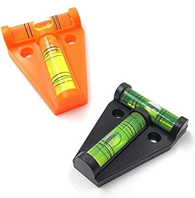 UBEI RV T-Level Shatterproof Cross Check Bubble Level 2 Way Multipurpose For RVs, Camping, Hobby, Milling, Machines, Furniture, Trailers, Construction, Home, Tripods, Camera Equipment, Etc (2 pcs) from UBEI