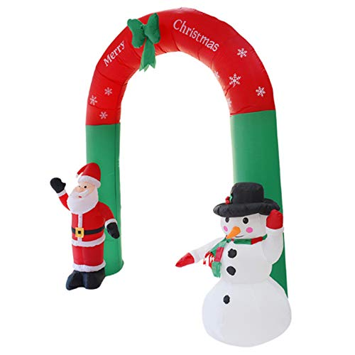 Wsaman Weihnachten Garten-Dekorationen, Feiertag Props Aufblasbare Bögen Weihnachtsmann Schneemann-Weihnachts Aufblasbare Modell Windundurchlässige wasserdichte Für Innen/Außen/Rasen
