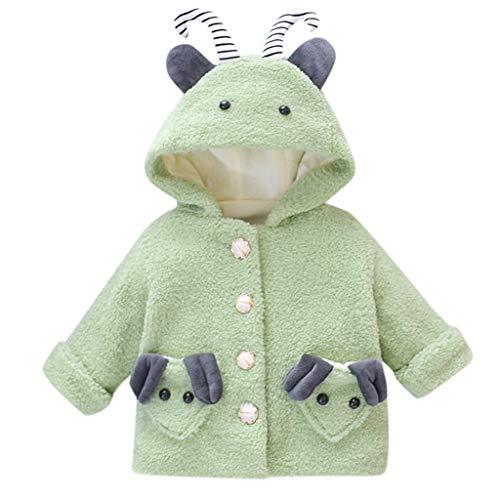 Bascar Toddler Baby Mädchen Winter Dicke Warm Rosa Fleece Jacken Kinder Langarm Steppjacke Kapuzenjacke Mädchen Winter Kleidung