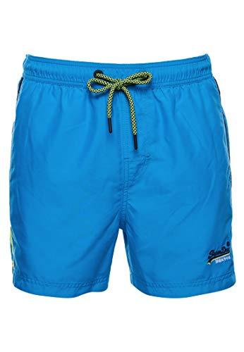 Superdry Mens Beach Volley Swim Board Shorts, Hawaii Blue, L
