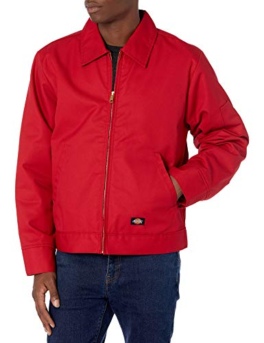 Dickies Men's Lined Eisenhower Jacket, English Red, Extra Large