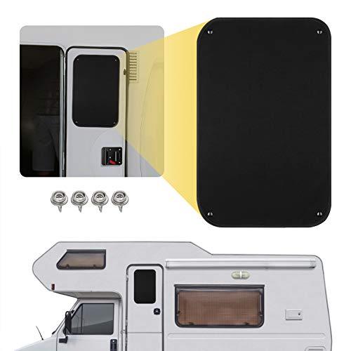 rv window covers Kohree RV Door Window Shade, 24 x 16 Inch Camper Sunshade Privacy Screen Window Cover, Travel Trailer Motorhome Sun Shade Accessories, Acrylic Blackout Fabric, UV Rays Protection, Waterproof, Black