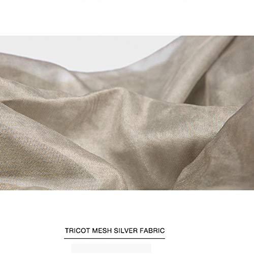 Elastische 100% Silver Fiber Fabric, 1.5M Wide Radiation gordijn doek, ademend Gaas Net, Reinforced Elektromagnetische afscherming Doek