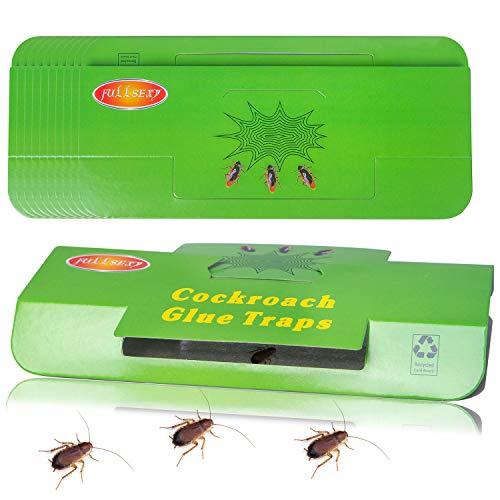 Fullsexy 20 Piezas de Trampas para Cucarachas, Trampa Pegajosa Colector de Cucarachas para Cocina y Sala