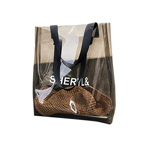 cineman Durchsichtige Tasche, Druck PVC Transparente Handtasche Schwimmen Fitness Taschen, Damenmode Umhängetasche, Leichte Elegant Frauen Handtasche Geeignet für alle Aktivitäten, A4 Größe