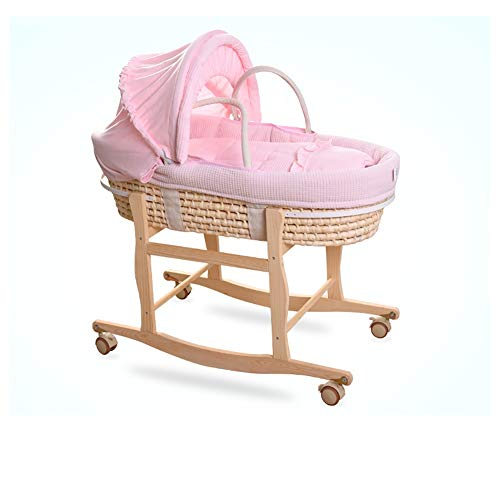 Buy HLR-Travel Beds Crib Travel, Portable Bamboo Fiber Material Can Be Car Folding Bracket Dual-use ...
