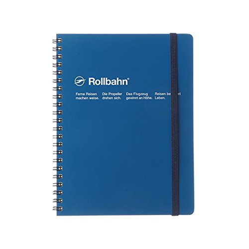 Delfonics Rollbahn Spiral Notebooks: 6-1/2 in x 8.5 in. (Blue)