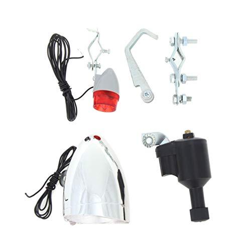 LIOOBO 自転車ライトジェネレーターダイナモジェネレーターヘッドテールライトアクセサリー付き