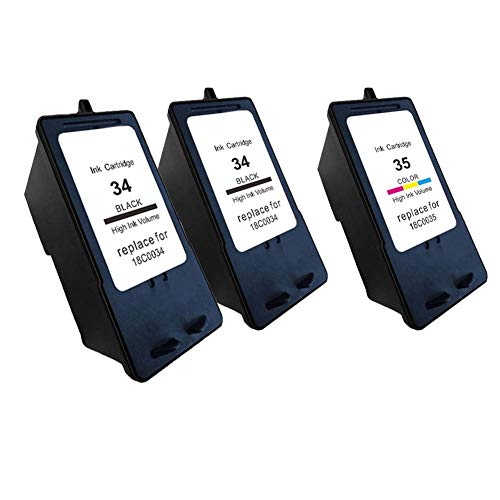 Karl Aiken - Cartucho de tinta para impresora Lexmark X2500 X2530 X2550 X3330 X3350 X3530 X3530 X3550 (3X(2 Negro, 1 Tri-Color)