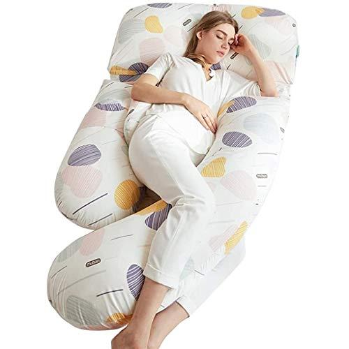 Almohada de maternidad con cubierta extraíble - Ubicación en forma de la almohada del cuerpo en forma de U - Apoyo hacia atrás / cuello / cabeza - Almohada de maternidad de enfermería para la crecient