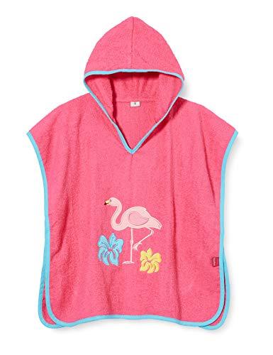 Playshoes Mädchen Poncho Flamingo Bademantel, pink 18, L