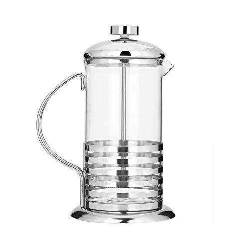 LKNJLL Francés Fabricante de la Prensa de café, Copa portátil de Acero Inoxidable Cristal French Press Cafetera Tetera Émbolo (Size : 800ML)