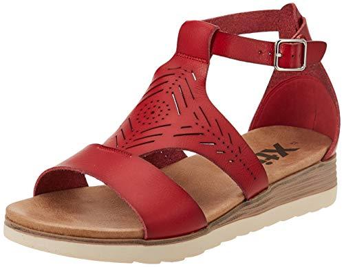 XTI 42521, Sandalia Mujer, Rojo, 40 EU