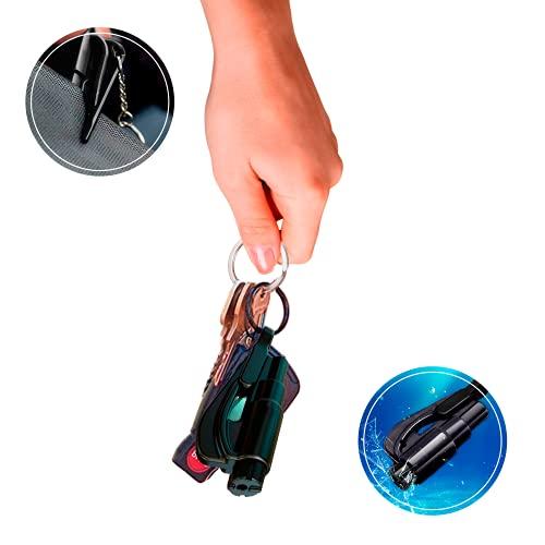 Extremix-Herramienta Multiusos Rompecristales y Cortadora de Cinturón de Seguridad Negra-para Emergencias de Coche