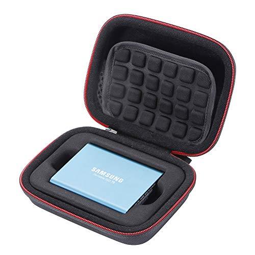 Hard Case für Samsung T5 / T3 / T1 Portable 250 GB, 500 GB, 1 TB, 2 TB, SSD, USB 3.0, Externe Solid State-Laufwerke, Aufbewahrungstasche - Schwarz
