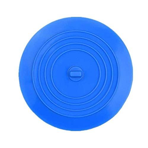 1Pcs Moderne Silikon-Tub Stopper Badewanne Stopper Ablassschraube Sinks Haar Stopper flache Abdeckung Bad-Accessoires & xs (Color : Blue)