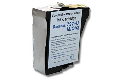 vhbw Druckerpatronen Tintenpatronen Druckerpatrone Tintenpatrone blau mit Chip für Pitney Bowes Frankiermaschinen DM50 DM50i DM55 DM55i K700 wie 797-0