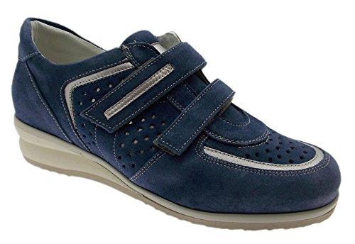 Artikel C3659 blauwe Velcro sneaker geperforeerd orthopedische schoen vrouw 36