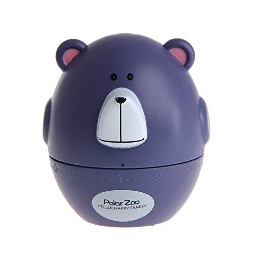 cuigu temporizador, dibujos animados oso Cocinar Hornear mecánica Despertador Dormir Recordar Relojes, 60minutos