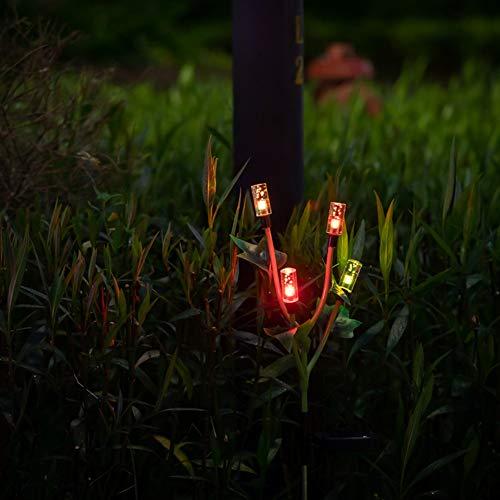 Luz de jardín colorida, con acrílico y tubo de acero inoxidable 6-8H Materiales de calidad de tiempo de carga Luces de jardín solar para jardín patio