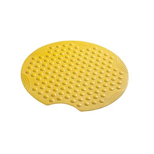 SANIMIX runde Duscheinlage, Duschmatte, Sicherheitseinlage für die Dusche Modell Bubbles Größe: Ø54cm Farbe: Gelb