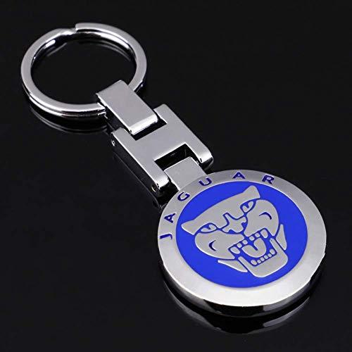 AMITD Schlüsselbund,Schlüsselanhänger,Hochwertiger Doppelseitiger Autoschlüsselschlüssel Mit H-Schnalle Aus Metall. Geeignet Für Jaguar-Abzeichen-Schlüsselanhänger-Accessoires Für Herren Und Damen