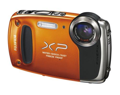 Fujifilm FinePix XP50 Digital Waterproof Camera - Orange (14MP CMOS, 5x Optical Zoom) 2.7 inch LCD Screen