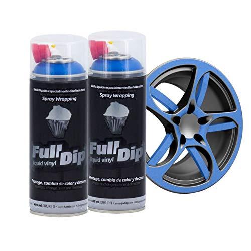 AutoFullCar Full Dip Pack 2 Spray FULLDIP - TiendaFullDip.com (Azul Metalizado)